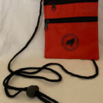 #5 Red Zippered Lanyard Pouch w.SCA logo
